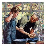 """Washing Up for Supper,""August 1, 1944 Giclee Print by Douglas Crockwell"