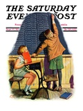 &quot;&#39;I Was Tardy&#39;,&quot; Saturday Evening Post Cover, September 27, 1930 Reproduction proc&#233;d&#233; gicl&#233;e par Alan Foster