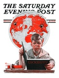 """Geography,"" Saturday Evening Post Cover, September 29, 1923 Giclee Print by Elbert Mcgran Jackson"