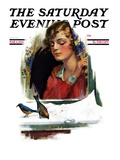 """Snow Birds,"" Saturday Evening Post Cover, March 6, 1926 Giclee Print by Charles A. MacLellan"