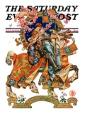 """Knight in Shining Armor,"" Saturday Evening Post Cover, July 17, 1926 Giclee Print by Joseph Christian Leyendecker"