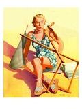 """""""Broken Beach Chair,""""August 12, 1939 Giclée-tryk af John Hyde Phillips"""
