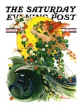 """Mermaid,"" Saturday Evening Post Cover, August 4, 1928 Giclee Print by Elbert Mcgran Jackson"