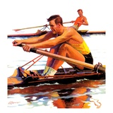 """Sculling Race,""August 15, 1936 Giclee Print by Maurice Bower"