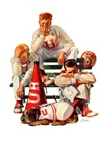 """Cheerleaders after Lost Game,""November 18, 1939 Giclee Print by Lonie Bee"