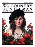 &quot;Young Woman and Flowers,&quot; Country Gentleman Cover, May 17, 1924 Giclee Print by J. Knowles Hare