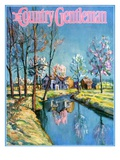 """Landscape of Farm in Springtime,"" Country Gentleman Cover, May 1, 1932 Giclee Print by Walter Baum"