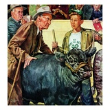 """Cattle Judging,""November 1, 1946 Giclee Print by W.C. Griffith"