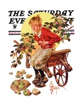 """Too Many Green Apples,"" Saturday Evening Post Cover, September 16, 1933 Giclee Print by Joseph Christian Leyendecker"