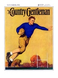 """Football Player,"" Country Gentleman Cover, November 1, 1931 Giclee Print by John Newton Howitt"
