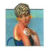 """Sunburned Sunbather,""July 6, 1929 Giclee Print by Penrhyn Stanlaws"