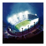 """Football Stadium at Night,""October 1, 1938 Giclee Print by Wesley Neff"