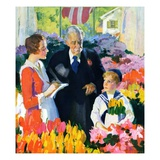 """Buying Flowers for Mother,""May 1, 1930 Giclee Print by Haddon Sundblom"