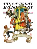 """Independant Action,"" Saturday Evening Post Cover, June 30, 1928 Giclee Print by J.C. Leyendecker"