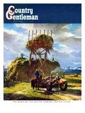 """Stacking Hay,"" Country Gentleman Cover, July 1, 1950 Giclee Print by  Pleisner"