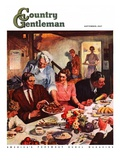 """Second Helping,"" Country Gentleman Cover, September 1, 1947 Giclee Print by Lealand Gustavson"