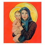 """Madonna and Child,""December 17, 1932 Giclee Print by Ellen Pyle"