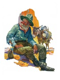 """Old Miner,""April 6, 1929 Giclee Print by Edgar Franklin Wittmack"