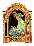 """June Bridal Couple,""June 22, 1929 Giclee Print by Elbert Mcgran Jackson"