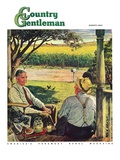 """Summer on the Farmhouse Porch,"" Country Gentleman Cover, August 1, 1947 Giclee Print by W.C. Griffith"