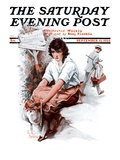 """End of the Season,"" Saturday Evening Post Cover, September 12, 1925 Giclee Print by Paul Stahr"