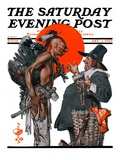 """Trading for a Turkey,"" Saturday Evening Post Cover, December 1, 1923 Giclee Print by J.C. Leyendecker"
