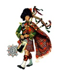 """Bagpipes,""September 10, 1932 Reproduction procédé giclée par Edgar Franklin Wittmack"