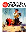 """""""Lost All His Marbles,"""" Country Gentleman Cover, March 1, 1937 Giclee Print by Henry Hintermeister"""