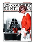 """""""Repotting Her Plants,"""" Country Gentleman Cover, April 18, 1925 Giclee Print by Harold Brett"""