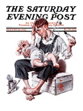 """Feeding Time,"" Saturday Evening Post Cover, August 25, 1923 Giclee Print by Joseph Christian Leyendecker"