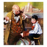 """School Master,""September 1, 1926 Giclee Print by William Meade Prince"