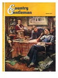 """Around the Table after Dinner,"" Country Gentleman Cover, March 1, 1947 Giclee Print by Herman Geisen"