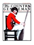 """Girl with Oar in Chair,"" Country Gentleman Cover, August 23, 1924 Giclee Print by E. Troth"