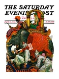 &quot;Circus Parade,&quot; Saturday Evening Post Cover, June 16, 1928 Giclee Print by Elbert Mcgran Jackson