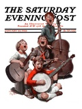 """String Quartet,"" Saturday Evening Post Cover, January 20, 1923 Giclee Print by Alan Foster"