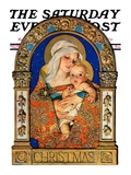 """""""Madonna and Child,"""" Saturday Evening Post Cover, December 24, 1927 Giclee Print by J.C. Leyendecker"""