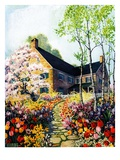 """Home in Springtime,""April 1, 1930 Giclee Print by Nelson Grofe"