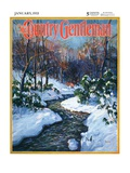 """Stream in Snowy Woods,"" Country Gentleman Cover, January 1, 1933 Giclee Print by Walter Baum"