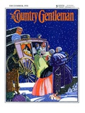 """Victorian Christmas Scene,"" Country Gentleman Cover, December 1, 1931 Giclee Print by Kraske"