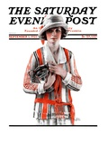 """Woman and Trophy,"" Saturday Evening Post Cover, September 1, 1923 Giclee Print by Pearl L. Hill"
