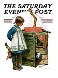 &quot;No Girls Allowed,&quot; Saturday Evening Post Cover, May 15, 1926 Giclee Print by Lawrence Toney