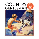 """Pooch Doesn't Want to Swim,"" Country Gentleman Cover, September 1, 1934 Giclee Print by Henry Hintermeister"