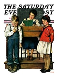 """Spelling Bee,"" Saturday Evening Post Cover, September 10, 1927 Giclee Print by Lawrence Toney"