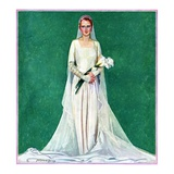 """Bride with Calla Lilies,""June 1, 1931 Giclee Print by McClelland Barclay"