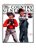 """Two Boys Playing Baseball,"" Country Gentleman Cover, May 24, 1924 Giclee Print by George Brehm"