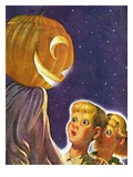 """Trick or Treaters,""October 30, 1937 Giclee Print by Robert B. Velie"