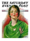 """Woman in Green,"" Saturday Evening Post Cover, March 23, 1929 Giclee Print by William Haskell Coffin"