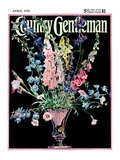 """Flowers in Silver Vase,"" Country Gentleman Cover, April 1, 1931 Giclee Print by Nelson Grofe"