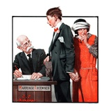 """Marriage License,""April 14, 1923 Giclee Print by J.F. Kernan"