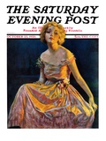 &quot;Golden Ball Gown,&quot; Saturday Evening Post Cover, October 23, 1926 Giclee Print by Bradshaw Crandall